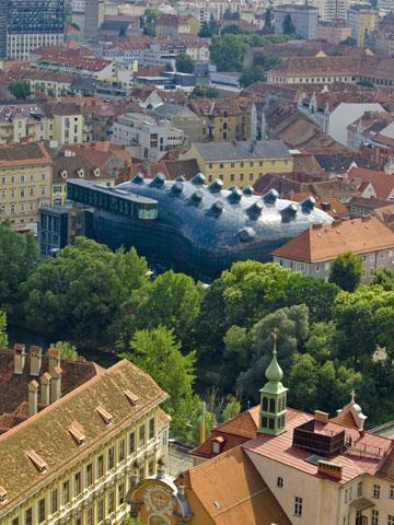 דומה? מרכז התרבות של פיטר קוק בגראץ, אוסטריה (צילום: shutterstock)