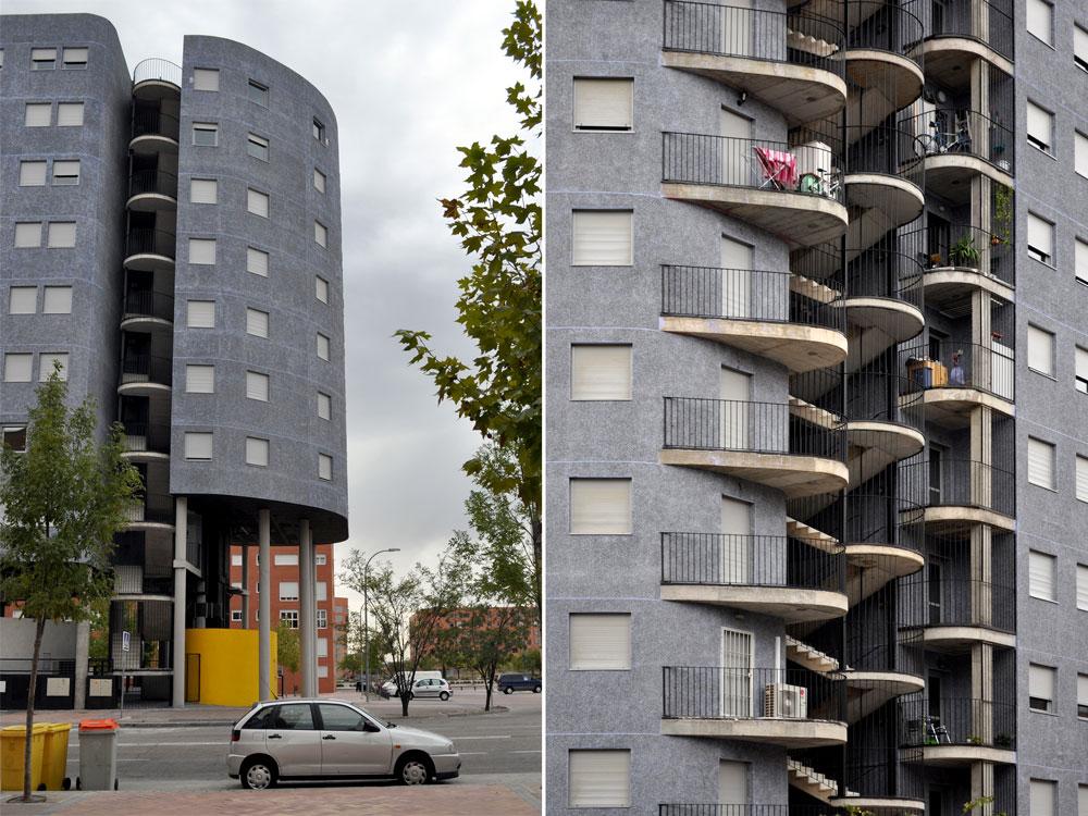 פרויקט הדיור הציבורי במדריד, עם 97 דירות מגוונות בתקציב של 9 מיליון יורו בלבד, הוא הצלחה מוגבלת. לא כל הרעיונות האוטופיים התגשמו במבחן המציאות (באדיבות פיטר קוק)