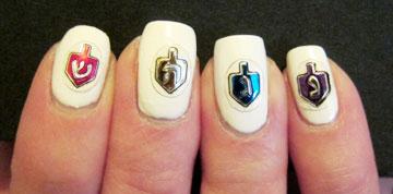 סביבונים על האצבעות (צילום: MidrashManicures.com)