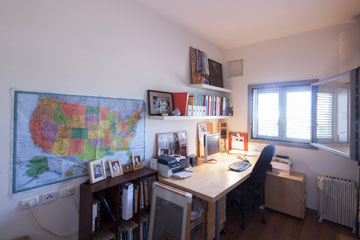 חדר העבודה (צילום: אביעד בר נס)