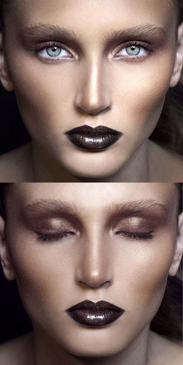 גם עיניים וגם שפתיים. לוק מס' 3 (צילום: זוהר שטרית)