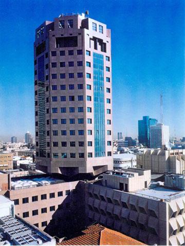 מגדל לין במרכז העסקים של ת''א (באדיבות צפור אדריכלים)