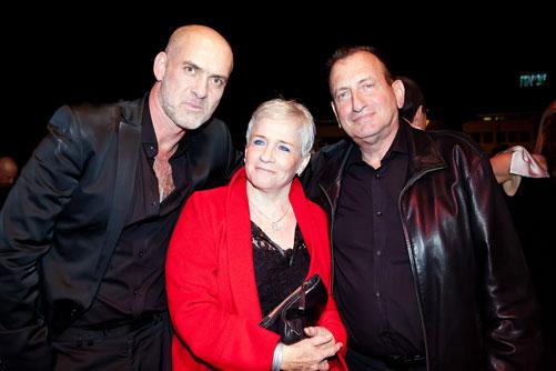 מוטי רייף (משמאל) עם רון חולדאי. ''על אף הקשיים, הצלחנו. איך שרה דנה אינטרנשיונל: הכול זה לטובה'' (צילום: ענבל מרמרי)