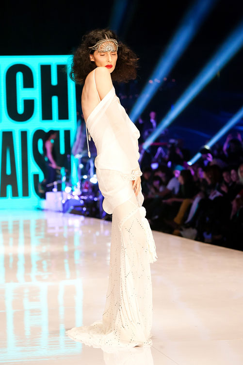יעל רייך בשמלה של ויקטור בלאיש בערב הפתיחה (צילום: ענבל מרמרי)