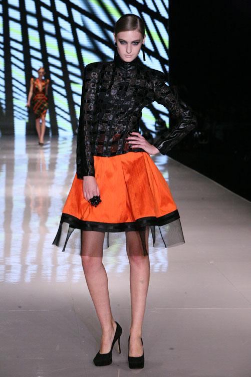 תצוגת האופנה של המעצבת רזיאלה גרשון חורף 2012-13 (צילום: ענבל מרמרי)
