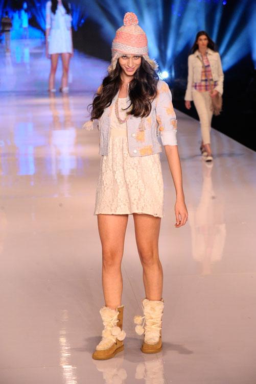 תצוגת האופנה החורפית של אמריקן איגל (צילום: ערן סלם)