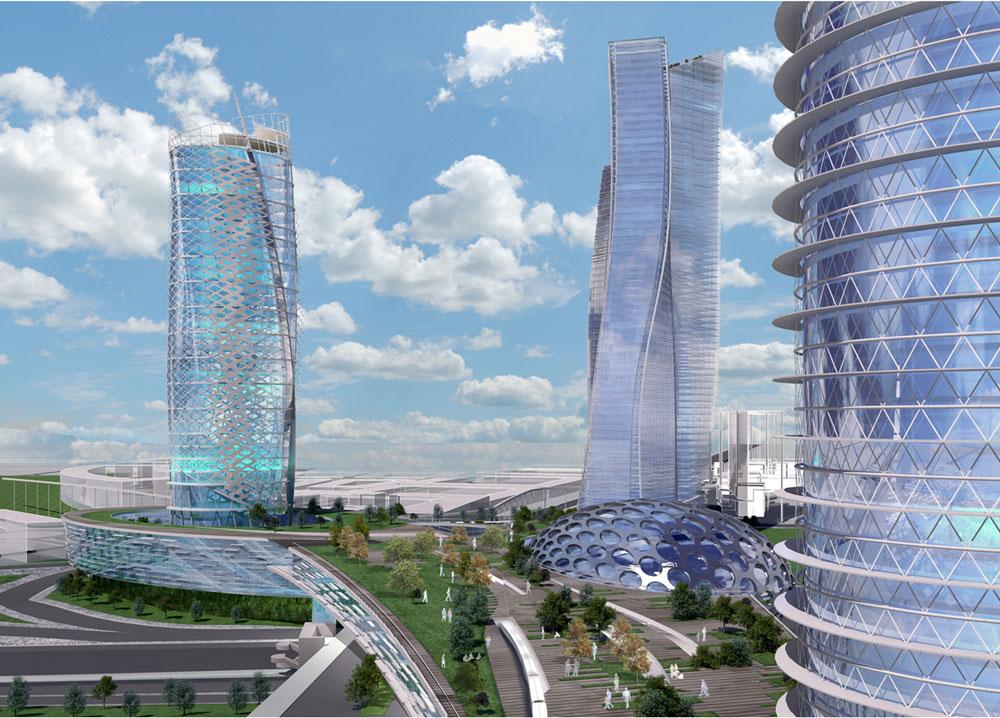 זו ההצעה הזוכה בתחרות האדריכלים הסגורה, הצעה שמתפרסמת כאן לראשונה. משרד ''קנפו-כלימור'' תיכנן מתחם של ארבעה אזורים, כולם כוללים שטחי מסחר (הדמיה: קנפו כלימור אדריכלים)