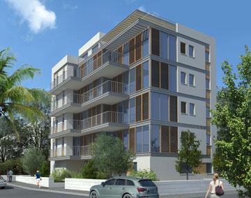 פרויקט בתכנונה של אותה אדריכלית, אורית מילבואר אייל, ברחוב צפת (אזור בוגרשוב) (הדמיה: אורית מילבואר אייל אדריכלים)