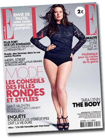 מרחיבים את טווח המידות. טארה לין על שער מגזין אל הצרפתי