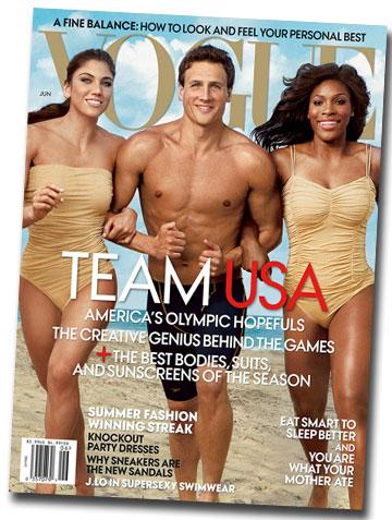הגיליון הבריא: סרינה וויליאמס, ריאן לוכטה והופ סולו על שער מגזין ווג האמריקאי