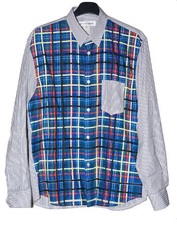 חולצה מכופתרת של המעצבת היפנית ריי קוואקובו מהמותג קום דה גרסון. ''אני מאוהב בחולצות של המותג'' (צילום: ענבל מרמרי)