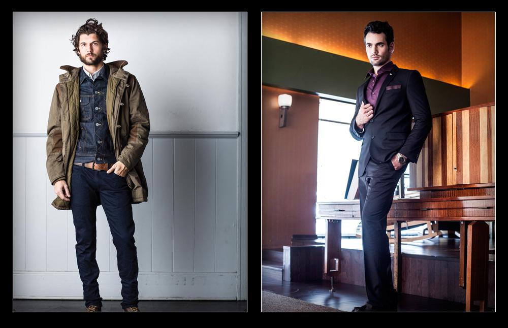 בגדים מעוצבים ומוזלים במיוחד לגברים. בגיר (מימין) ו-VF (צילום: סקוט רינגלר, זיו שדה)