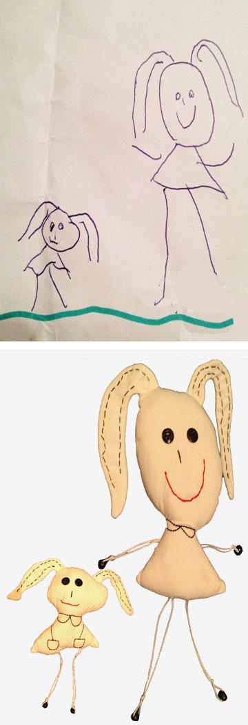 הציור - והבובה (באדיבות דל'ארטה)