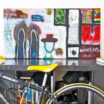 אופניים אורבניים ותמונה (צילום: ז'אן כהן)