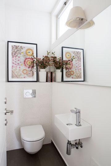 חפצי נוי מוסיפים צבע בשירותי האורחים (צילום: איתי בנית)