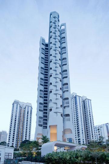 מגדל המגורים החדש בסינגפור (צילום: Iwan Baan)