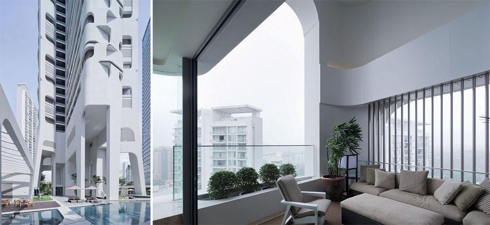 בסינגפור חנך המשרד ההולנדי מגדל מגורים. התכנון הממוחשב של המשרד, שבא לידי ביטוי בפרויקטים גרנדיוזיים קודמים (ראו בכתבה), מתבטא גם הפעם (צילום: Iwan Baan)