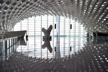 נמל התעופה החדש בשנז'ן (צילום: Archivio Fuksas)