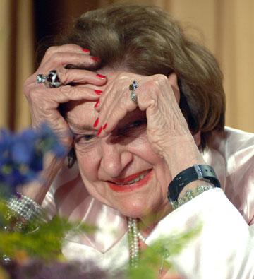 הגברת הראשונה של הבית הלבן. הלן תומאס (צילום: gettyimages)
