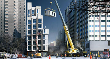בניין דירות המיקרו במנהטן, שהגה בלומברג (באדיבות עיריית ניו יורק)