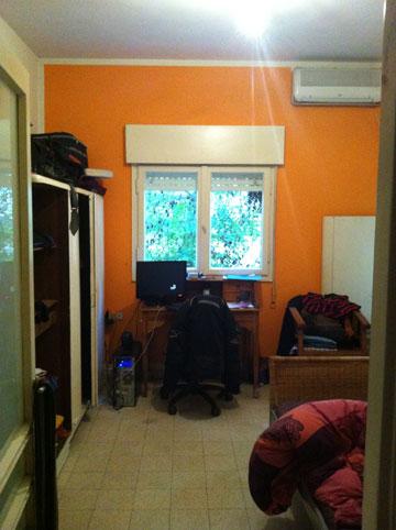 חדר השינה, ''לפני'' (צילום: שירי בלום לאודן)