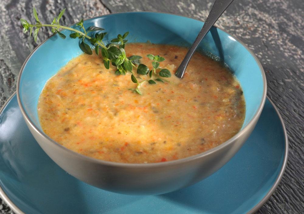 מרק ירקות קלויים (צילום: קדם צלמים)
