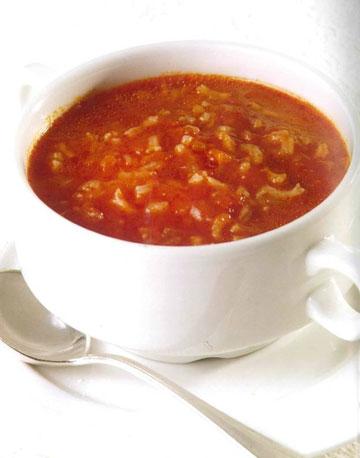 מרק עגבניות עם אורז (צילום: קדם צלמים)