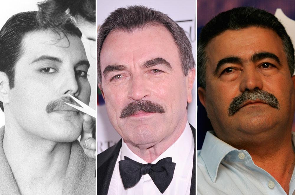 גבר של גברים: השפם הצבאי אומץ על ידי שוטרים ואנשי חוק, טום סלק, עמיר פרץ, וכמובן פרדי מרקורי (צילום: gettyimages)