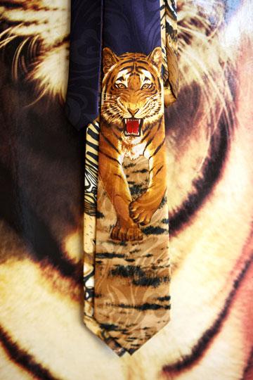 """""""יש לי 120 עניבות מנומרות בארון"""" (צילום: אורית פניני)"""
