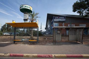 תחנת אוטובוס בראשון לציון. פלא שאנשים לא רוצים לנסוע בתחבורה ציבורית? (צילום: טל ניסים)