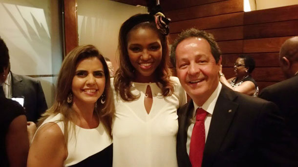 """עם יו""""ר הבנק הממשלתי של ברזיל ואשתו"""