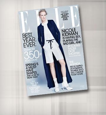 פותחת את 2015 על השער של Elle: ניקול קידמן