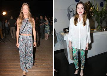 מככבות במדורי האופנה: אליאנה תדהר ודנה פרידר (צילום: רפי דלויה, ענת מוסברג)