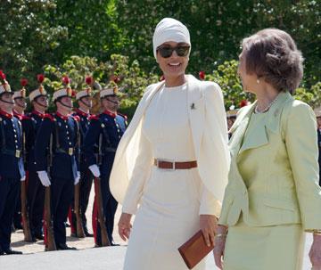 שייח'ה מוזה בינת נאסר. לא רק האישה הכי חזקה בעולם הערבי, אלא גם אחת הנשים החזקות בתעשיית האופנה העולמית (צילום: gettyimages)