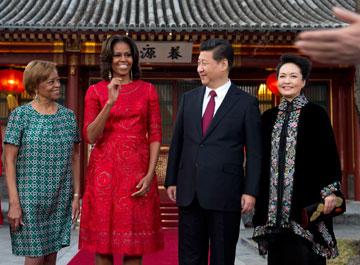 פנג ליואן (מימין) ומישל אובמה. מי האישה הראשונה הכי אלגנטית? (צילום: gettyimages)