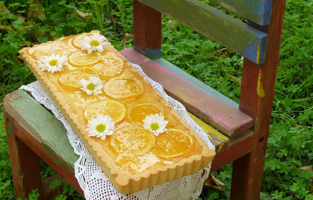פאי תפוזים ושקדים (צילום: מרילין איילון)