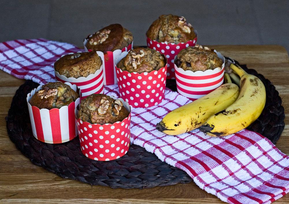 מאפינס בננה מופחתי קלוריות (צילום: עדי קראוס)