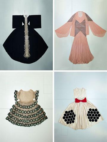 תערוכת הרטרוספקטיבה ללנוון. למעלה ממאה פריטי לבוש ואביזרים  (צילום: Katerina Jebb)