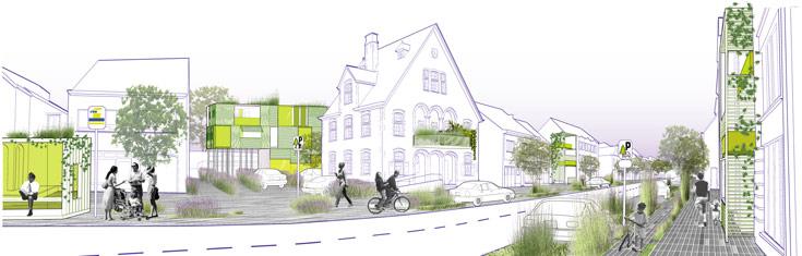 הדמיה של הפרויקט בבונהיידן, בלגיה. עקרונות תכנוניים להתחדשות עירונית