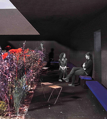 הדמיית התוכנית של צומטור לביתן הקיץ (צילום: פטר צומטור)