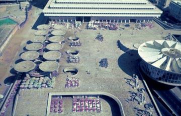 הקולוסיאום והכיכר בזמן הפתיחה (באדיבות ארכיון אדריכלות ישראל) (צילום:  ארכיון אדריכלות ישראל)