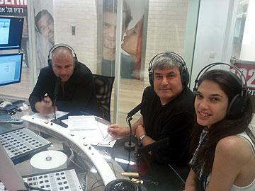 תמר עם הקולגות מהרדיו: משה פרימו ואיציק זוהר
