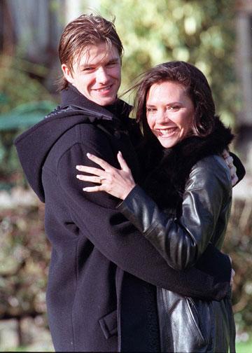 עם דיוויד בקהאם, 1998. כבר לא רק אשתו של (צילום: Gettyimages imagebank)