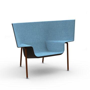 הכיסא 'קאפו' של דושי לוין. ריהוט חובק (צילום: dezin)