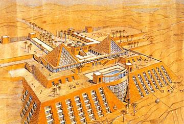 אילן פיבקו הציע לתכנן בית מלון כזה באילת. זה לא קרה (צילום: ארכיון אדריכלות ישראל, אוסף צבי אלחייני)