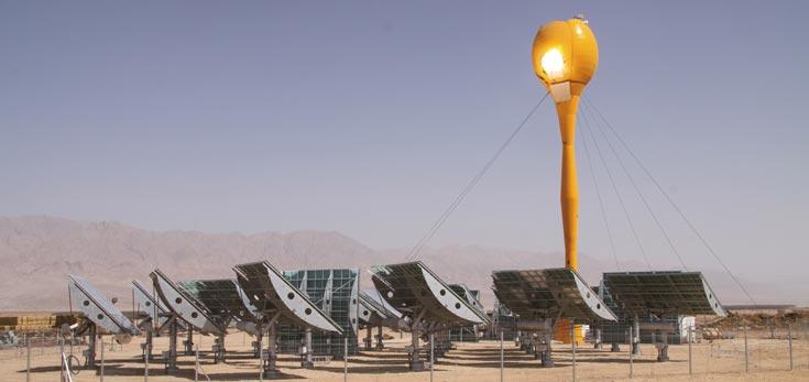 מגדל אנרגיה סולרי, קיבוץ סמר, 2010 (באדיבות חיים דותן בעמ אדריכלים ומתכנני ערים)