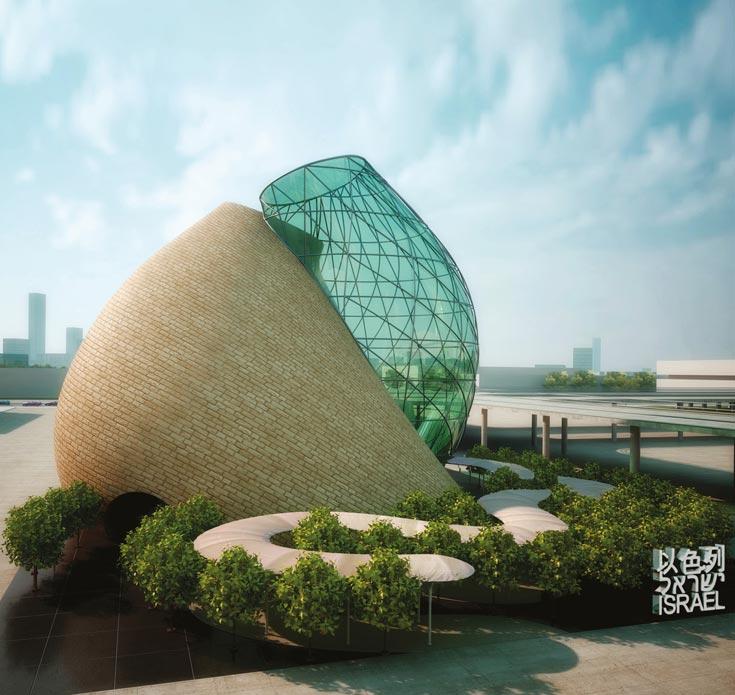 העבודות של דותן: ביתן ישראל בתערוכה העולמית אקספו 2010, שנגחאי, סין (באדיבות חיים דותן בעמ אדריכלים ומתכנני ערים)