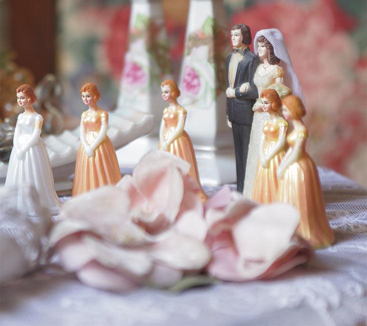בובות חתן-כלה: בובות מקוריות של עוגות חתונה, אמריקה, שנות ה- (צילום: אמית הרמן)
