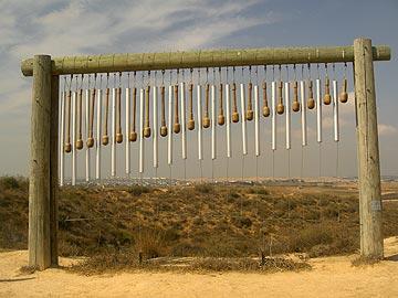 פעמון רוח ייחודי. מצפה אסף סיבוני (צילום: אריאלה אפללו)