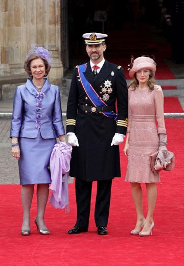 וגם הקודמת שיצרה היסטריה הגיעה. הזוג הספרדי המלכותי (צילום: gettyimages)